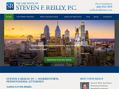 Website Design for Steven F. Reilly, PC
