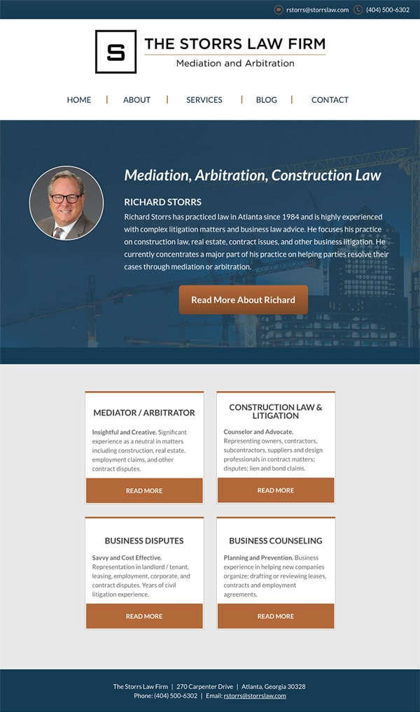 Atlanta GA Mediation and Arbitration Lawyer Website by The ...