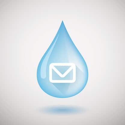 Blue Drop of Water Symbolizing Email Drip Campaign