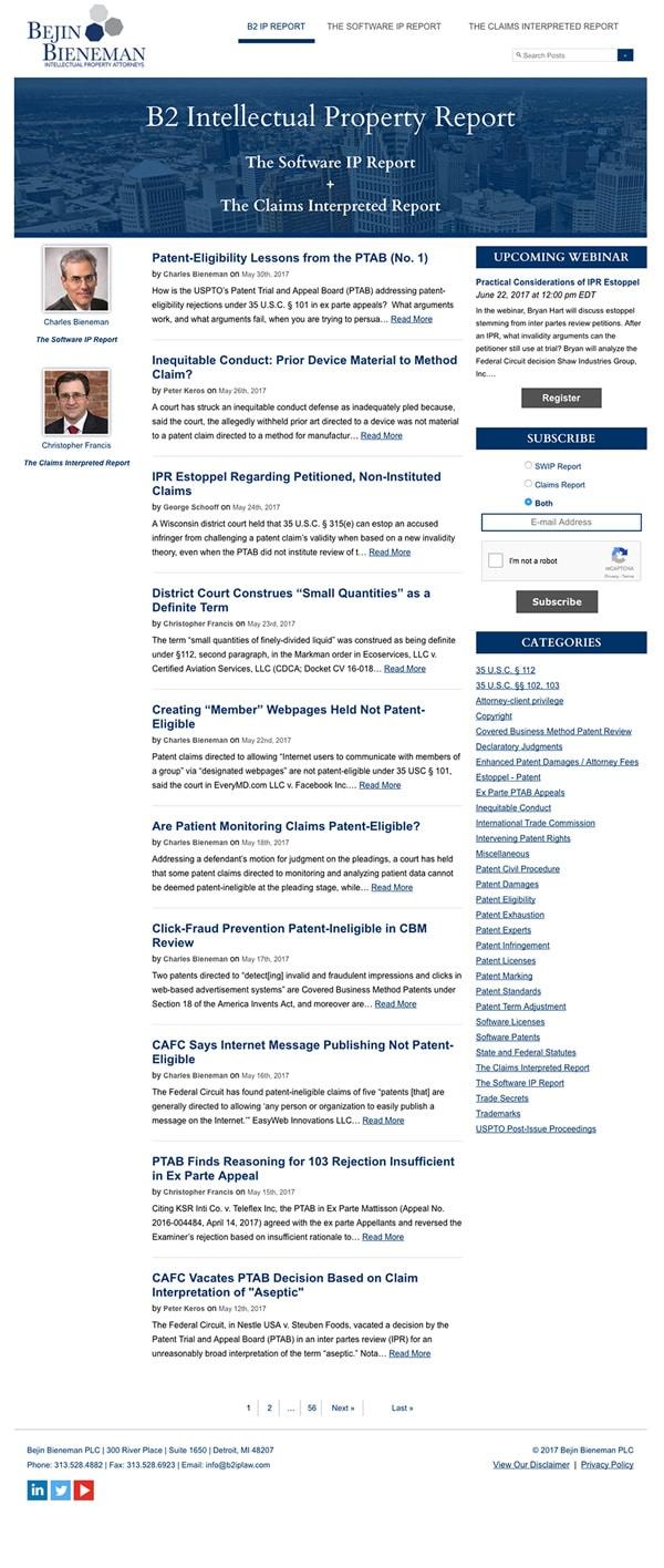 Law Firm Website Design for Bejin Bieneman PLC
