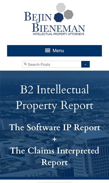 Responsive Mobile Attorney Website for Bejin Bieneman PLC