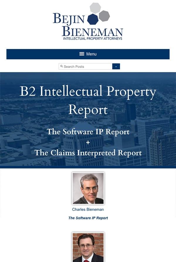 Mobile Friendly Law Firm Webiste for Bejin Bieneman PLC