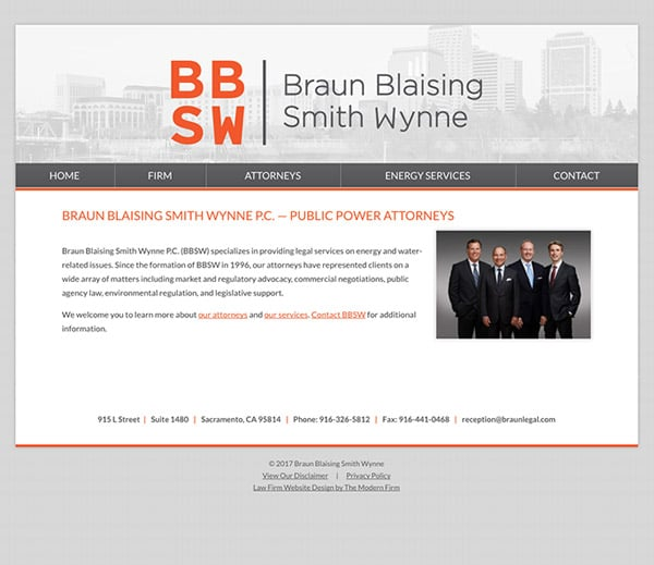 Law Firm Website Design for Braun Blaising Smith Wynne