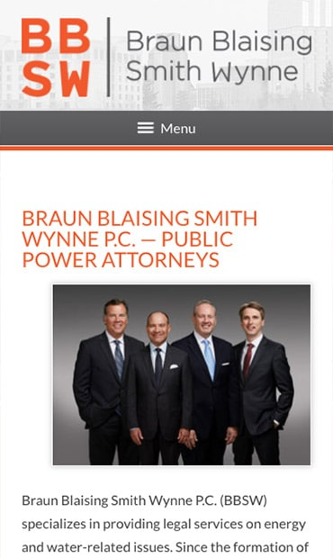 Responsive Mobile Attorney Website for Braun Blaising Smith Wynne