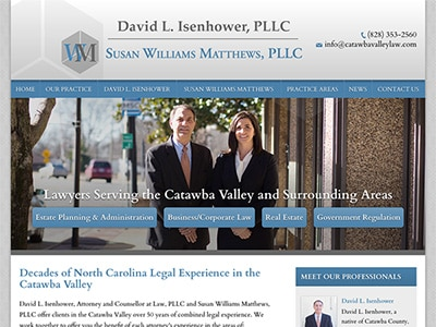 Law Firm Website design for David L. Isenhower, PLLC…