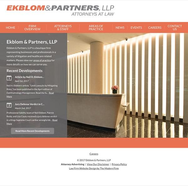 Law Firm Website Design for Ekblom & Partners, LLP