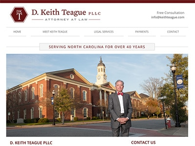 Website Design for D. Keith Teague PLLC