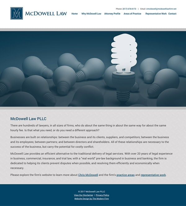 Law Firm Website Design for McDowell Law PLLC