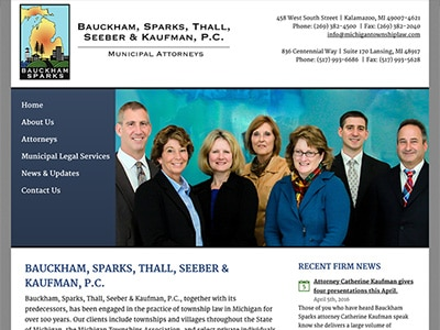 Law Firm Website design for Bauckham, Sparks, Thall,…