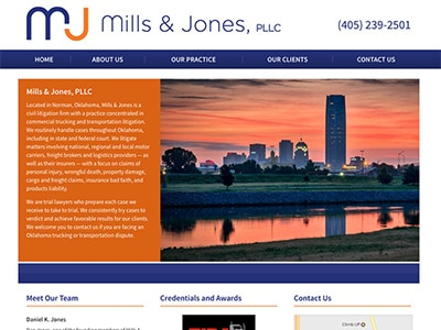 Law Firm Website design for Mills & Jones, PLLC