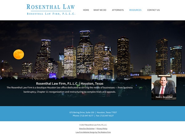 Law Firm Website Design for Rosenthal Law Firm, P.L.L.C.