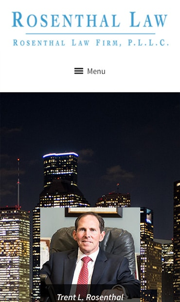 Responsive Mobile Attorney Website for Rosenthal Law Firm, P.L.L.C.