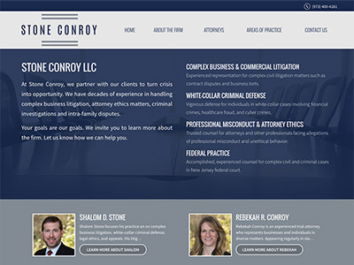 Law Firm Website design for Stone Conroy LLC