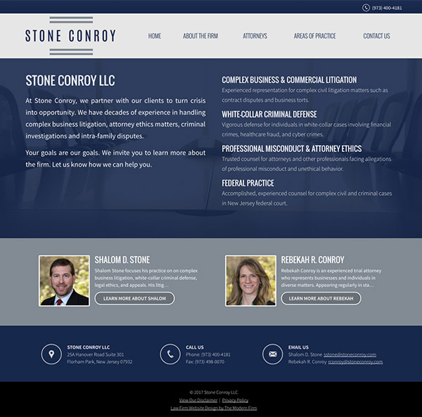 Law Firm Website for Stone Conroy LLC