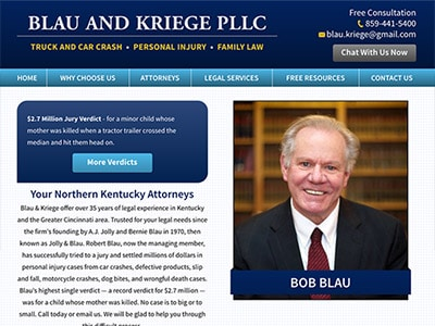 Law Firm Website design for Blau & Kriege PLLC
