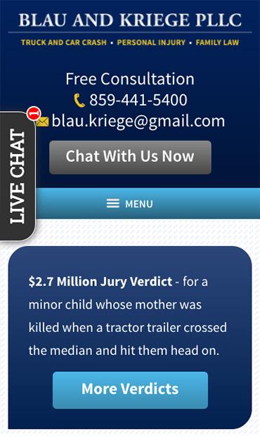 Responsive Mobile Attorney Website for Blau & Kriege PLLC