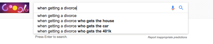 Google Auto Suggest screenshot