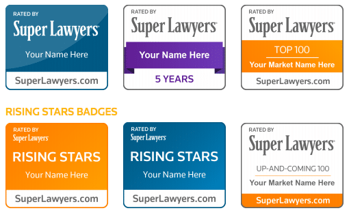 Super Lawyers Badges