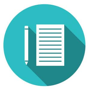 Blue Writing Icon: Attorney Website Writing Services