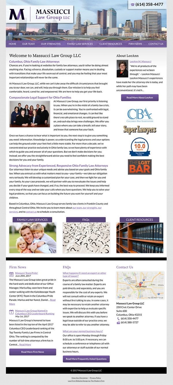 Oh Law Firm >> Columbus Oh Law Firm Website By The Modern Firm