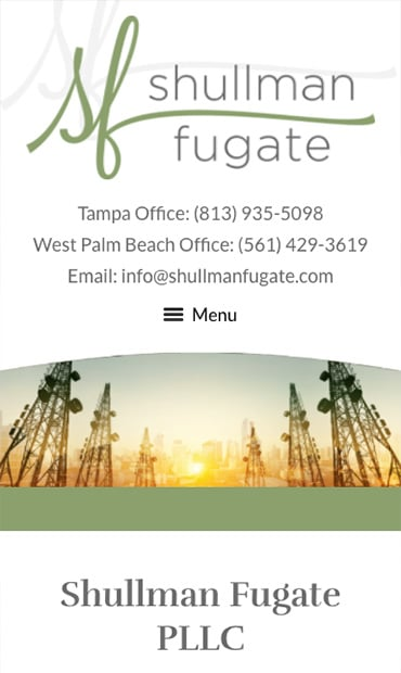 Responsive Mobile Attorney Website for Shullman Fugate PLLC