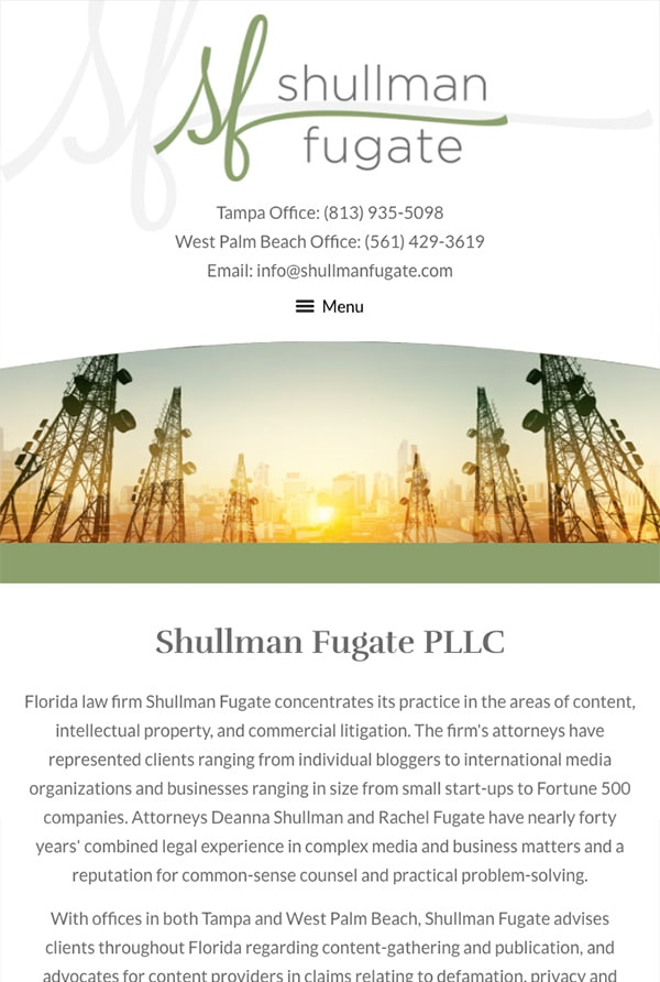Mobile Friendly Law Firm Webiste for Shullman Fugate PLLC