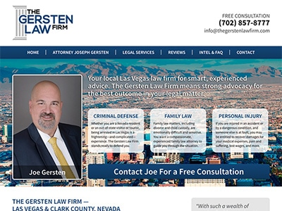 Law Firm Website design for The Gersten Law Firm PLLC