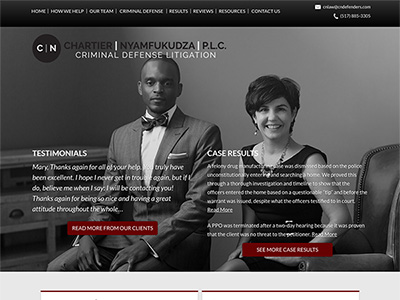 Law Firm Website design for Chartier & Nyamfukudza, P…