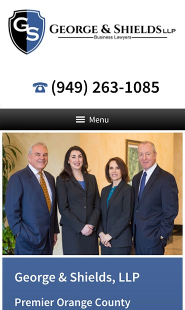 Responsive Mobile Attorney Website for George & Shields, LLP
