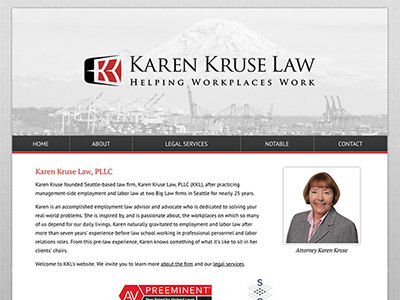 Law Firm Website design for Karen Kruse Law, PLLC