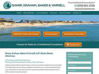 Law Firm Website design for Sharp, Graham, Baker & Va…