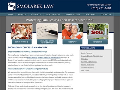 Law Firm Website design for Smolarek Law Offices