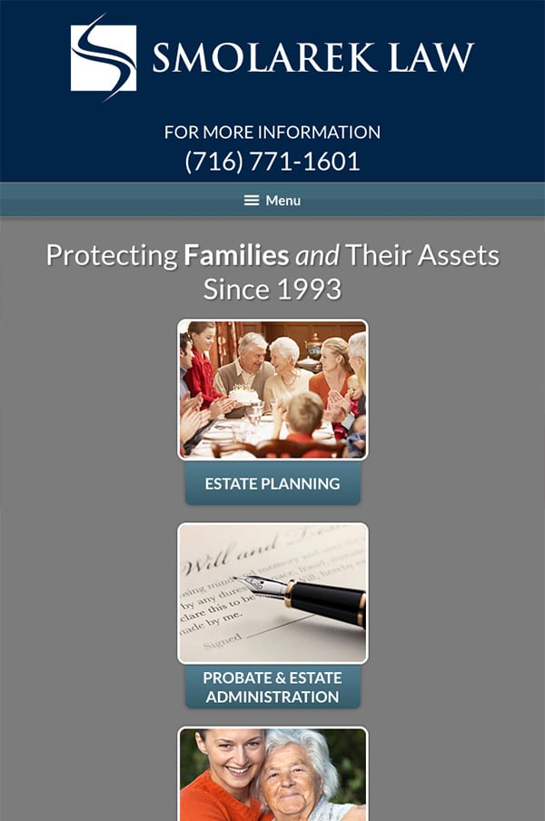Mobile Friendly Law Firm Webiste for Smolarek Law Offices