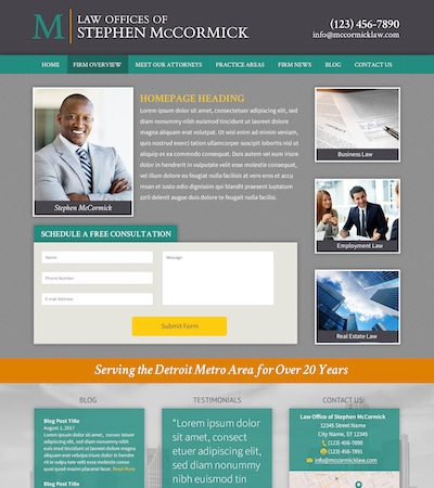 Law firm wbsite design concept Layout #110