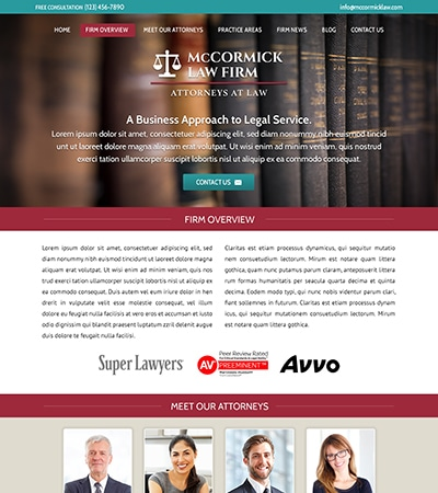 Law firm wbsite design concept Layout #111
