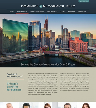 Law firm wbsite design concept Layout #112