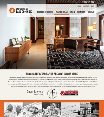 Law firm wbsite design concept Layout #113