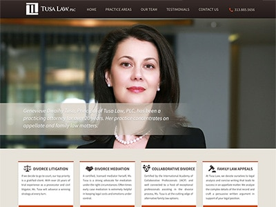 Website Design for Tusa Law, PLC