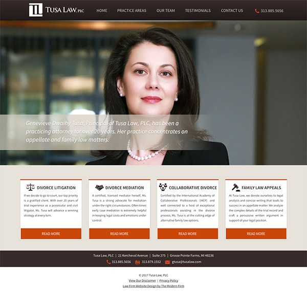 Law Firm Website Design for Tusa Law, PLC