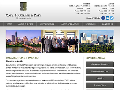 Law Firm Website design for Oaks, Hartline & Daly, LL…