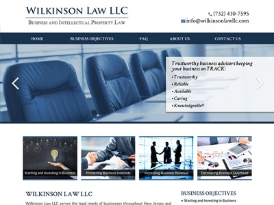 Law Firm Website design for Wilkinson Law LLC