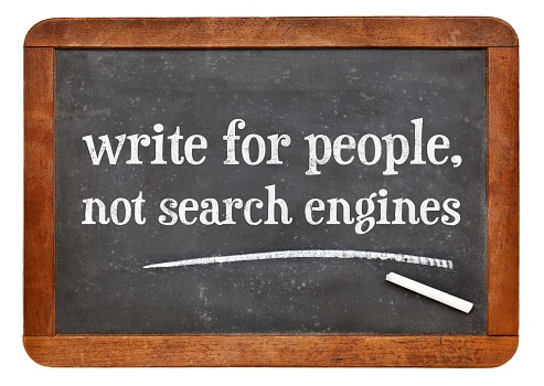 Chalkboard says: Write for people, not search engines
