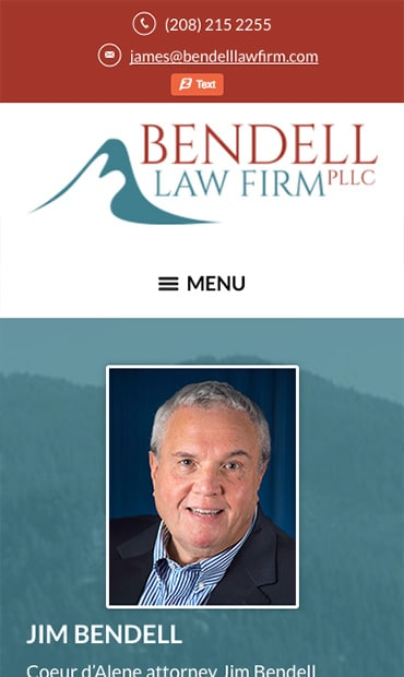 Responsive Mobile Attorney Website for The Bendell Law Firm, PLLC