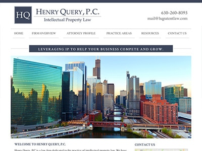 Law Firm Website design for Henry Query, P.C.