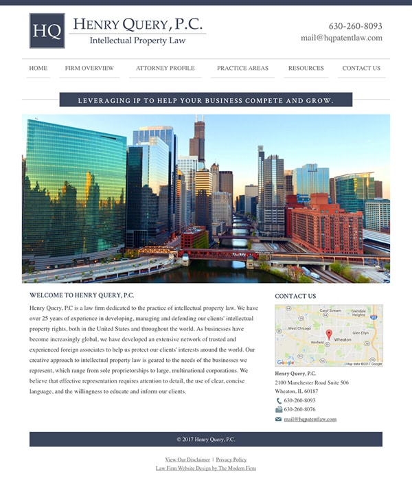 Law Firm Website for Henry Query, P.C.