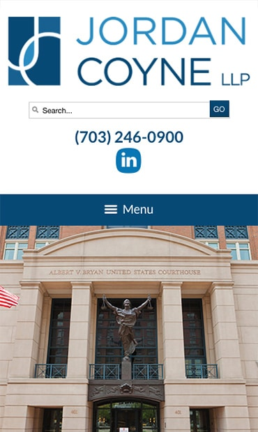 Responsive Mobile Attorney Website for Jordan Coyne LLP