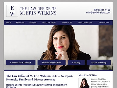 Website Design for Kentucky Divorce Lawyer Erin Wilkins