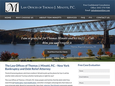Law Firm Website design for The Law Offices of Thomas…