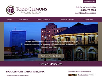 Law Firm Website design for Todd Clemons & Associates…