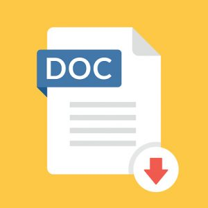 Word Doc Download Icon